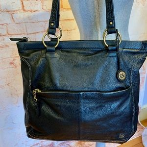 The Sak Black Leather Tote